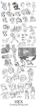 Ultimate HEX Sketch Dump! by Hootsweets