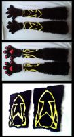 'Unde' Handpaws and Sleeves by CuriousCreatures