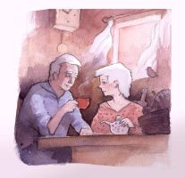 Couple_Old watercolor by DimMartin
