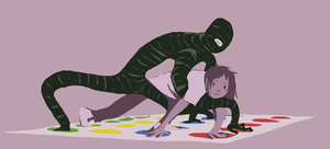 twister with friend by Spoonfayse