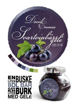 Blackcurrant jelly label by DavidOssian