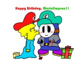 Happy Birthday, MarioSimpson1 by MechaKnucklesA3