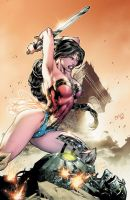 WONDER WOMAN - COLOR - by ED BENES by Ed-Benes-Studio