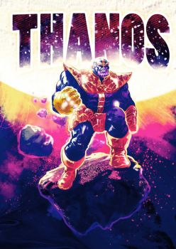 Thanos - Digital Drawing by mthemordant