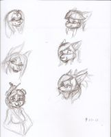 Heads -Sketchdump- by Django90