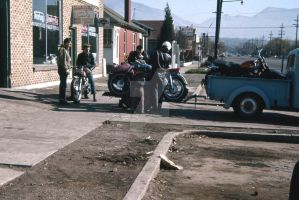 Off to the races 1961 by OldMotorcyclePix