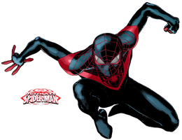 Miles Morales - Ultimate Spider-Man PNG by TheSuperiorXaviruiz