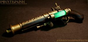 Plasma-Fueled Flintlock Blunderbuss Pistol by JohnsonArms