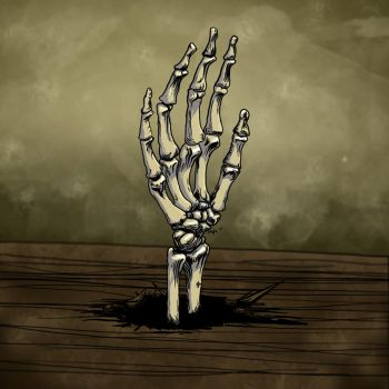 Skeleton Hand by carbonism
