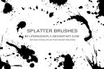 splatter brushes by lpdragonfly