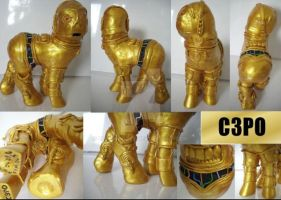My little Pony Custom C3PO by BerryMouse
