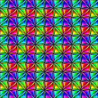 Rainbow Chrome Grid Pattern by Humble-Novice