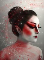Red Painted Lady by kaleighadams