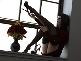 LegsUp window by Digital3Dgrirls
