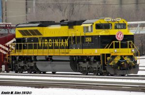 Virginian SD70ACe # 1069 roster shot by EternalFlame1891
