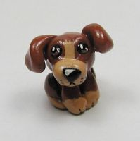 Random Brown Puppy Sculpture by LeiliaClay