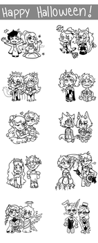 [OC]: Halloween Doodle Dump! by TheShatteredParadox