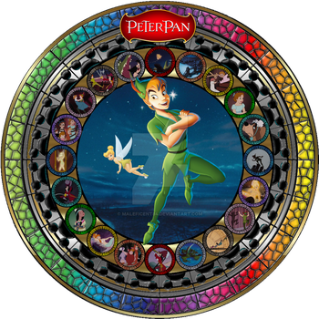 Masterpiece Peter Pan Stained Glass by Maleficent84