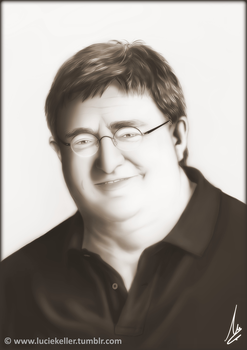 Gabe Newell - a Portrait by Inigirl226