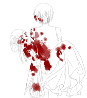 bloody secret past ::lineart:: by Blackcaress