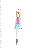 Random Person with Kitty Hat by foofoo12345