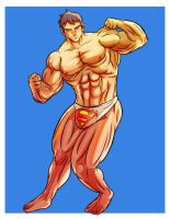 Muscled superboy by imuscle