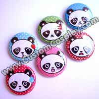 Polka Dot Panda Buttons by The-Cute-Storm