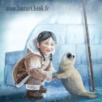 The baby seal and the child by laura-csajagi
