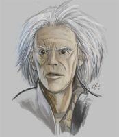 Doc Brown Speed paint by Squamate