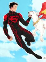 Superboy and Krypto colored by thirth