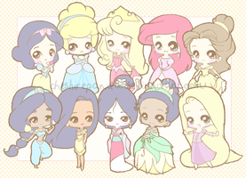 .:Disney Princesses:. by PhantomCarnival