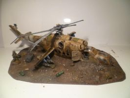 Crashed Hind, Right Side by FruFruHM
