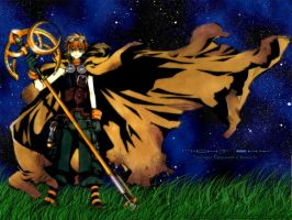 Night Sky - Syaoran by arch-lucifer