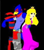 The new Falco and Peach by DarthWolfCascada7