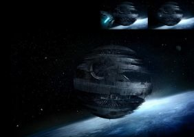star wars: Death Star by chinko724