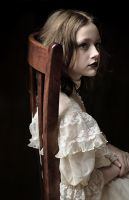 Girl and Chair by jemapellenicoletta