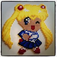 perler beads usagi tsukino - sailor moon by staubtaenzerin