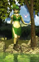 Playful Saria by DarklordIIID