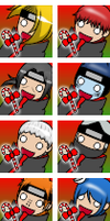 Akatsuki Icons: Candy cane LUV by WolfieAngelGirl1883