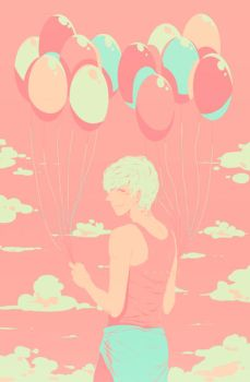 TMR: Newt with Balloons by honeyf