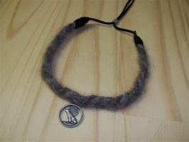 Black Wolf Collar Choker Commission by DaybreaksDawn