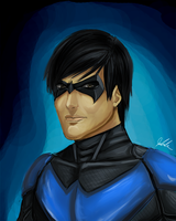 Nightwing Paint by jaerezzed