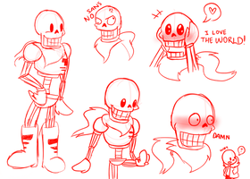 Papyrus Sketches by xXRosettaCookieXx