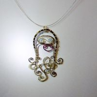 Cheeky octopus (necklace) SOLD by SheDares