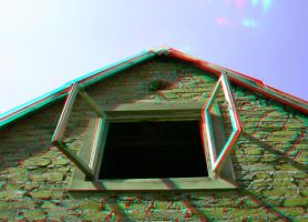 Forgotten Cottage3 3D Anaglyph by yellowishhaze