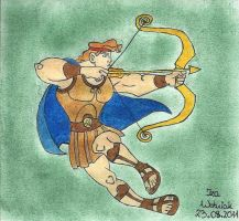 Hercules with bow by izabunny
