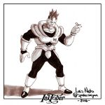 Inktober Day-21  Android 16 by Spidersaiyan