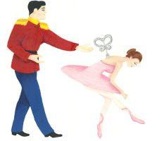 Nutcracker and the wind-up doll by RobbinMarie