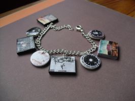 My Chemical Romance album charm bracelet by InsaneJellyBean95