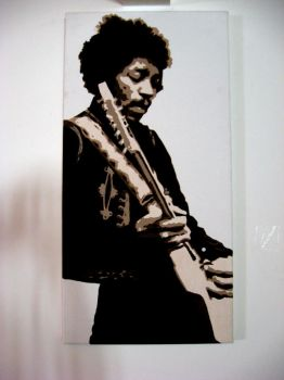 Jimmy Hendrix Guitar God by pulse-